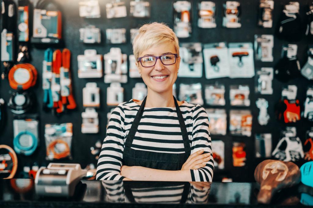 Einzelhandelskauffrau bei der kooperativen Umschulung